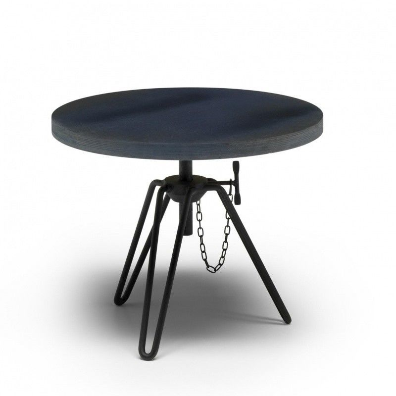 overdyed side table round diesel. Black Bedroom Furniture Sets. Home Design Ideas