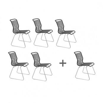 Montana - Aktionsset '5+1' Panton One Stuhl - anthrazit/Gestell stahl
