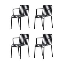 HAY - Set de 4 chaises avec accoudoirs Palissade