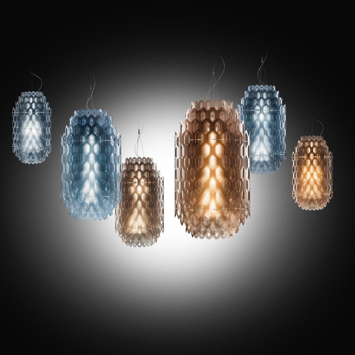 chantal led suspension lamp 50cm slamp. Black Bedroom Furniture Sets. Home Design Ideas