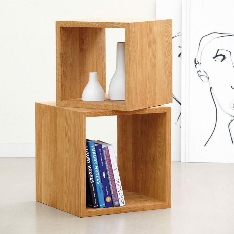 jan kurtz cubus beistelltisch w rfel holz ambientedirect. Black Bedroom Furniture Sets. Home Design Ideas