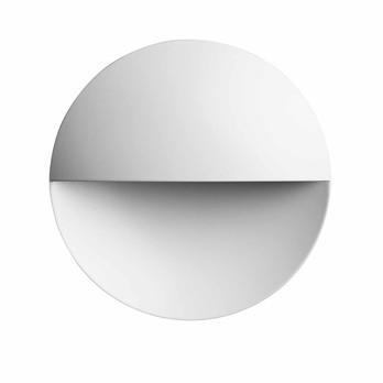 Flos - Giano Wandleuchte 10,4cm - mattweiss/lackiert/3000K/147lm/Ø100cm