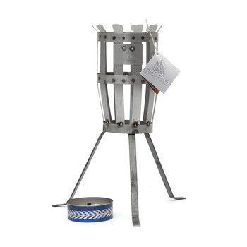 - Hilding Feuerkorb - silber/LxBxH 10x10x42cm
