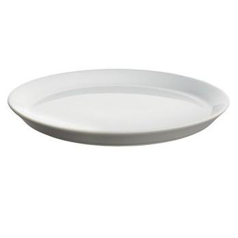 Alessi - Tonale Set 4 Dessertteller - hellgrau/Steingut/4 Stück/Ø 20cm