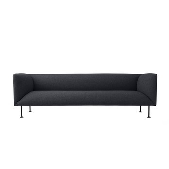Menu - Godot Sofa 3-Sitzer - dunkelgrau melange/pulverbeschichtet/LxBxH 222x83,5x70cm/Stoff Kvadrat