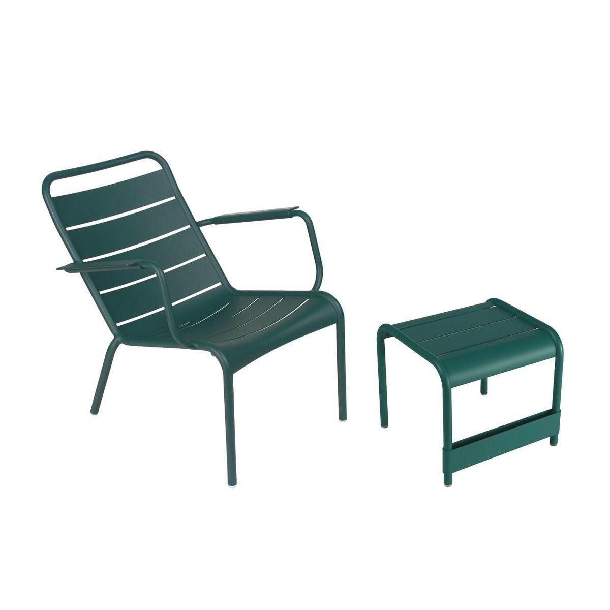 luxembourg ensemble fauteuil desserte fermob. Black Bedroom Furniture Sets. Home Design Ideas