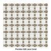 Kettal - Park Life Sonnenliege - knochenweiß/lace coral/Kissen 291 porousgrey grau/Stoff Porotex 528 lace coral/Gestell aluminium 678 knochenweiß