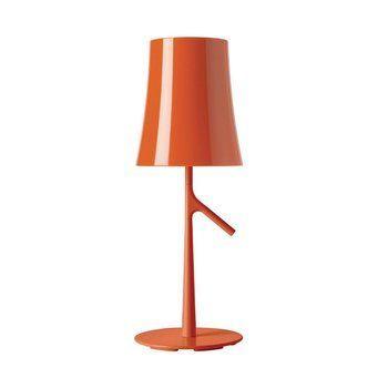 Foscarini - Birdie piccola Tischleuchte - orange/H 49cm/ Ø 17cm/mit Touch-Dimmer