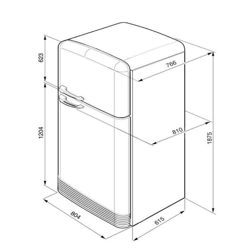 smeg fab50 refrigerator smeg. Black Bedroom Furniture Sets. Home Design Ideas