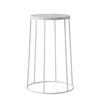 Menu - Wire Table Marble Beistelltisch 41,8cm - weiß/pulverbeschichtet/H 41,8cm, Ø 23cm