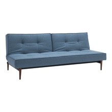 Innovation - Splitback Styletto Sofa Bed Dark Wood 210x90cm