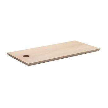 e15 - AC07 Cut Schneidbrett - eiche/unbehandelt/70x30cm/innere Metallverstrebungen