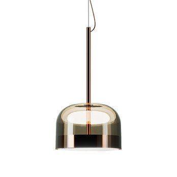 Fontana Arte - Equatore LED Pendelleuchte - kupfer/grau/glänzend/H:64cm x Ø35.8cm/2700K/1800lm CRI>90