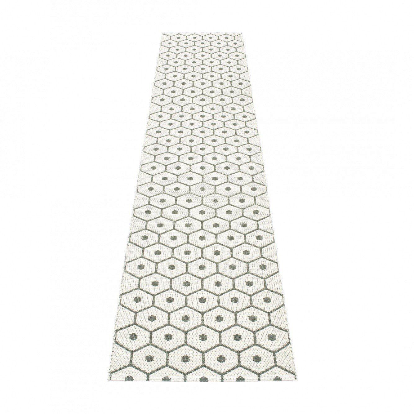 Pappelina   Honey Teppich 70x350cm   Holzkohlengrau/vanille