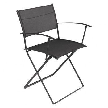 Fermob - Plein Air Armlehnstuhl klappbar - lakritz schwarz/Stahl