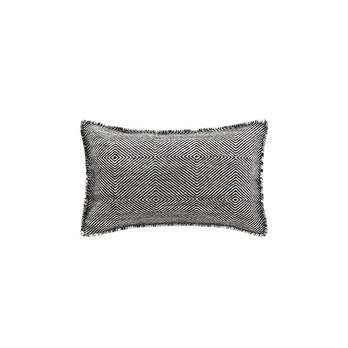 GAN - Sail Gan Spaces Kissen - schwarz/Handknüpftechnik: Dhurrie/Füllung: Polyester/60x36cm