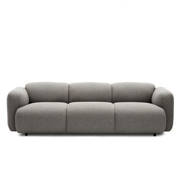 Normann Copenhagen - Swell Sofa 3-Sitzer - beige/Stoff Medley 61002