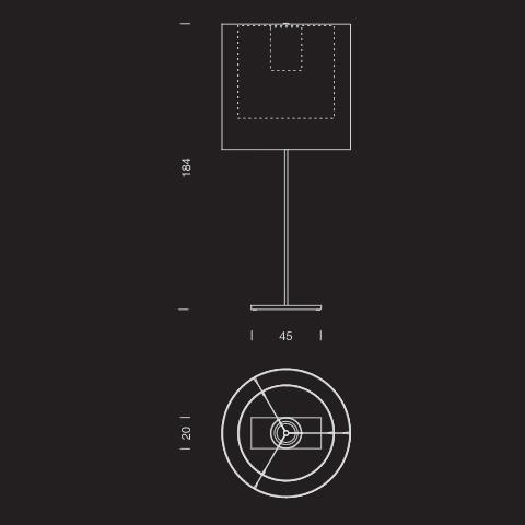 Santa + Cole - Moare Floor Stehleuchte - Strichzeichnung