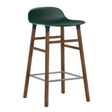Normann Copenhagen - Form Barhocker Gestell Walnuss 65cm