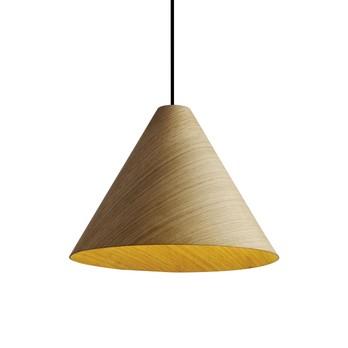 HAY - 30degree LED-Pendelleuchte S - natur/furniert/mit Kabelset/H 17cm/Ø 24cm