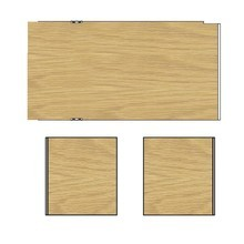 HAY - New Order - Set de 3 paneles de pared 100cm