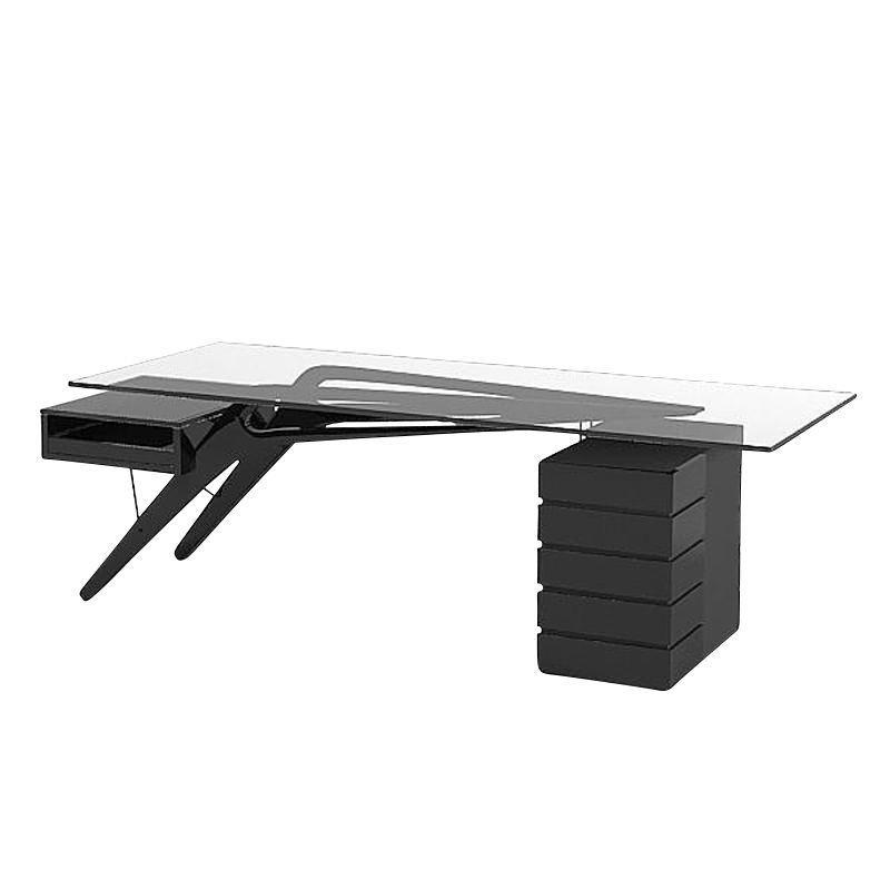 Cavour table de bureau zanotta for Bureau zanotta