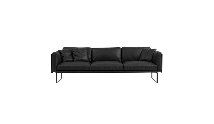 8 piero lissoni canap en cuir 3 places cassina. Black Bedroom Furniture Sets. Home Design Ideas