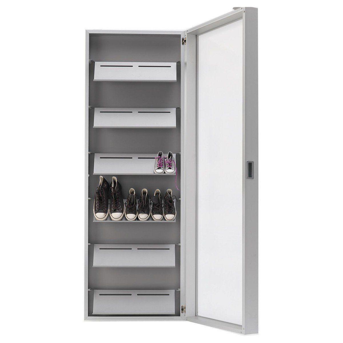 Delicieux Kristalia   Foot Box Shoe Cabinet   Aluminium/mirror/190x65x20cm/6 ...