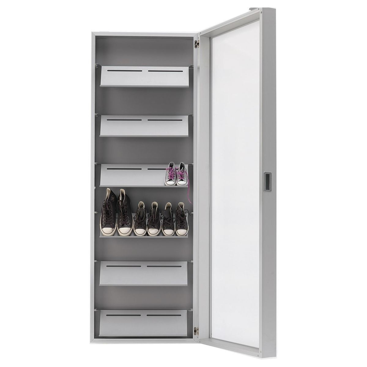 Etonnant Kristalia   Foot Box Shoe Cabinet   Aluminium/mirror/190x65x20cm/6 ...