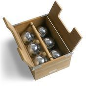 Skagerak - Akiko Petanque Set - teak/ chrome/6 balls
