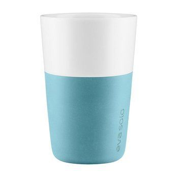Eva Solo - Eva Solo Colour Grip Latte Macchiato Becher - arktisch blau/2 Stück/360ml/H 12.5cm/Ø 8.5cm