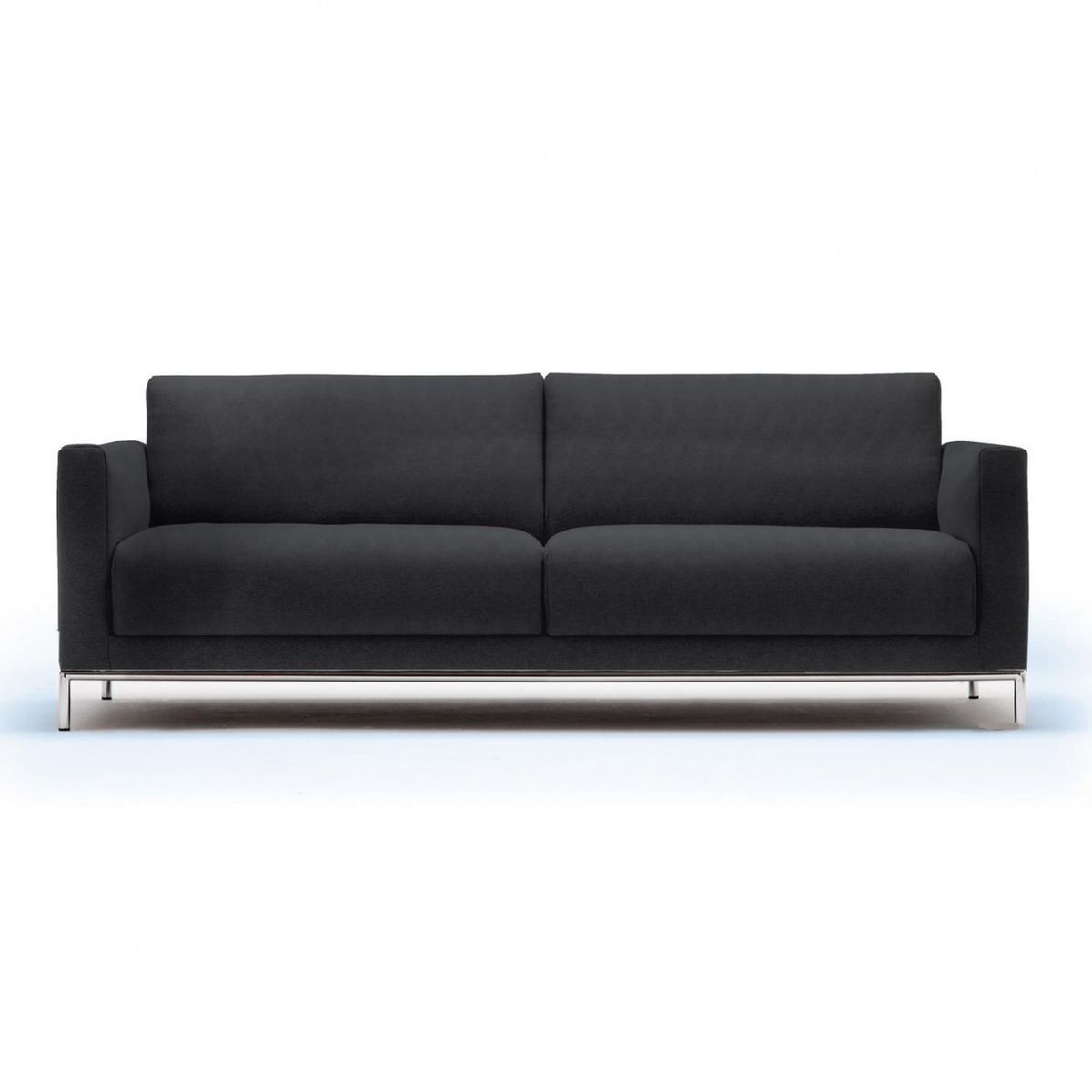 freistil 141 3 seater sofa frame chrome freistil rolf. Black Bedroom Furniture Sets. Home Design Ideas