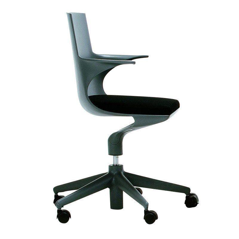 ... Kartell   Spoon Chair   Grey/black/polypropylene/bicoloured