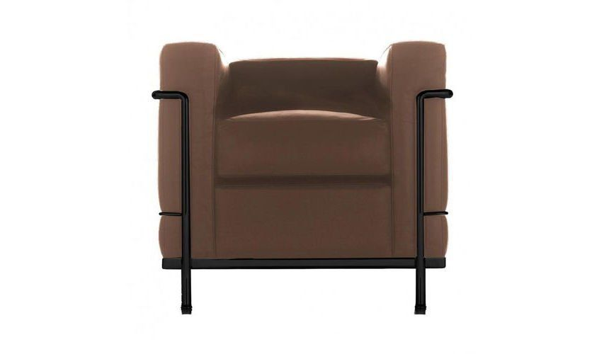 ... Cassina   Le Corbusier LC2 Armchair   Tabacco Brown/leather LCX  13X417/frame Matted ...