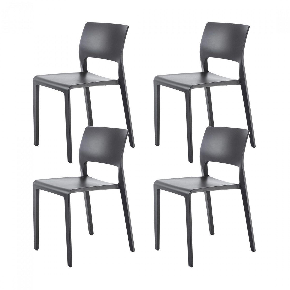 juno 3600 set of 4 chairs arper. Black Bedroom Furniture Sets. Home Design Ideas