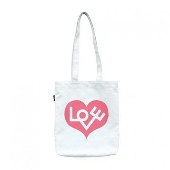 Vitra - Graphic Bag Love Heart Tasche - pink/weiß/BxH 37x40cm