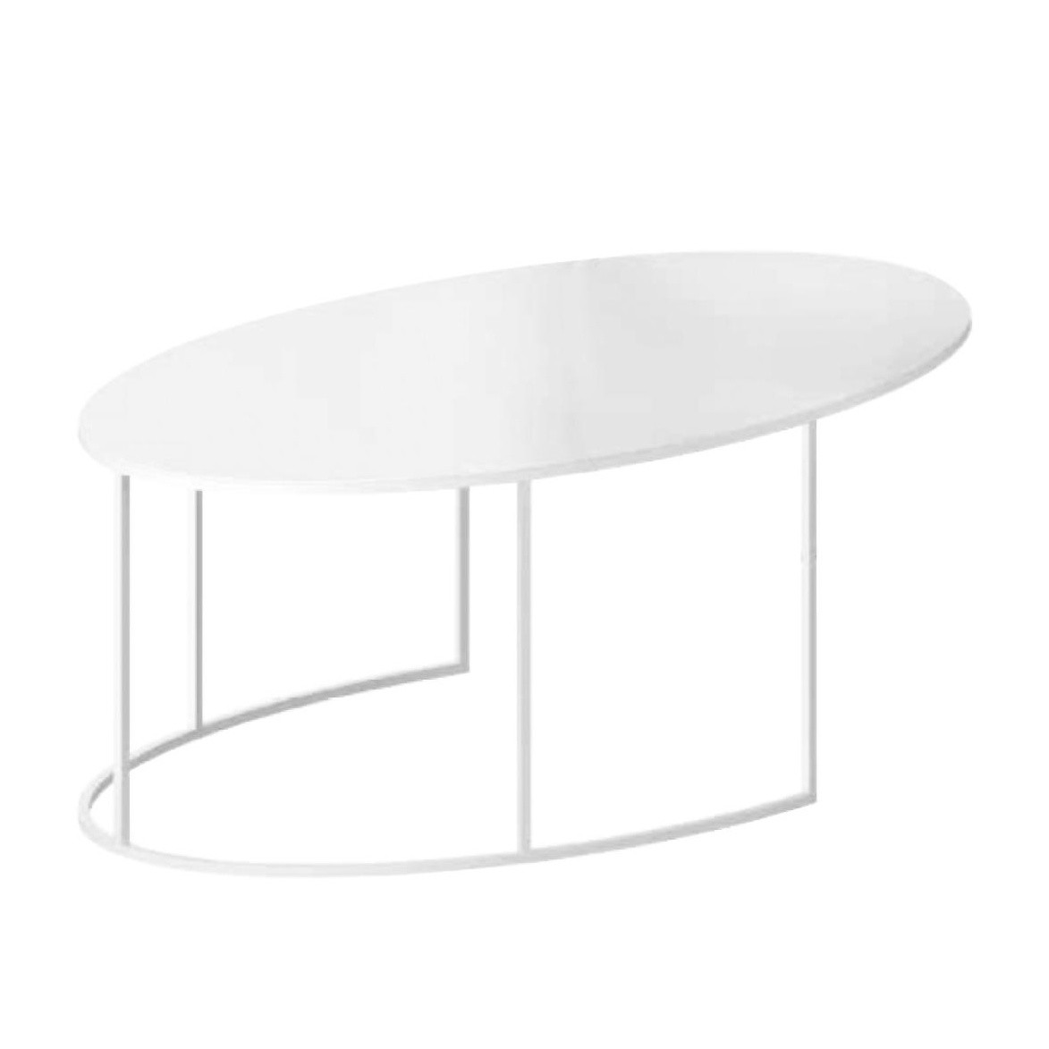 Zeus Slim Irony Oval Coffee Table Ambientedirect