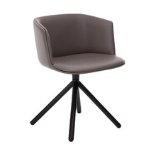 Lapalma - Cut Armchair Leather With Wood Frame Black