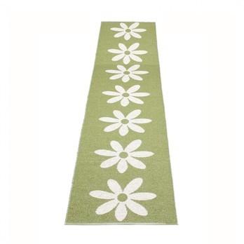 pappelina - Lilo Teppich 70x350cm - oliven-grün/vanille