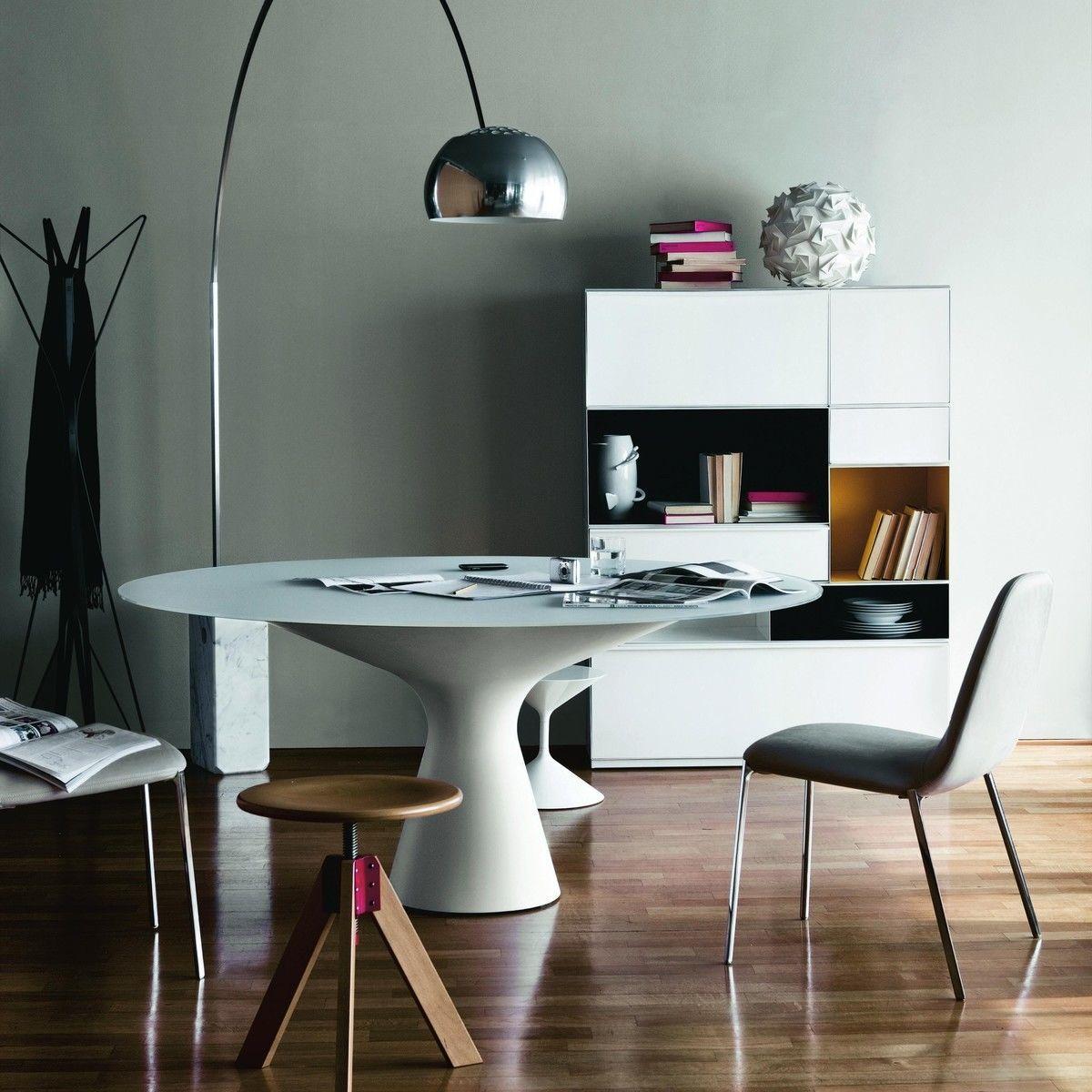 blanco esstisch tisch zanotta. Black Bedroom Furniture Sets. Home Design Ideas