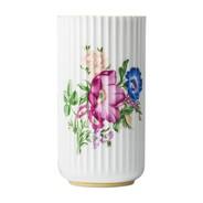 Lyngby Porcelæn - Lyngby porseleinen vaas met bloemen decor