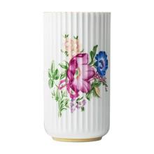 Lyngby Porcelæn - Florero de porcelana con decoración floral
