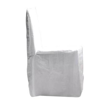 Gervasoni - Ghost 23 Stuhl mit Husse - weiß/Stoff Lino bianco