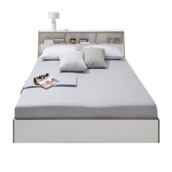 müller möbelwerkstätten - Slope Doppelbett - weiß/140x200cm/ohne Lattenrost und ohne Matratze/ohne Kissen ohne Bettbezug