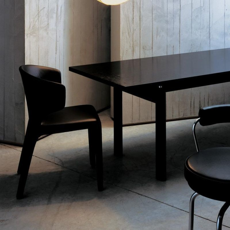 Cassina   Le Corbusier LC6 Table Cassina   black stained ash 225 x 85cm Le Corbusier LC6 Table Cassina   Cassina   AmbienteDirect com. Corbusier Lc6 Dining Table. Home Design Ideas