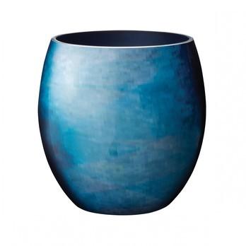 Stelton - Stockholm Horizon Vase Ø 16,6cm - weiß/blau/Emaille