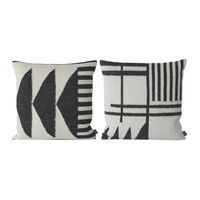 ferm LIVING - Kelim Black Cushion