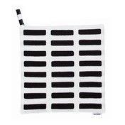 Artek - Siena Topflappen 2er-Set - weiß/schwarz/21,5x21,5cm
