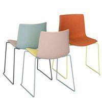 Arper - Catifa 46 0468 Duochrome Chair With Skids