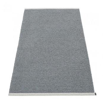pappelina - Mono Teppich 85x160cm - granit - grau/gewebt/Kante umgenäht/für Innen- und Außenbereich geeignet